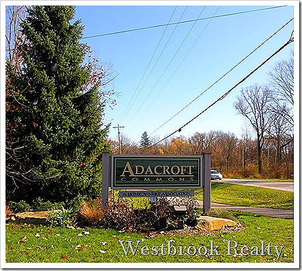 AdacroftCommonsentrance thumb Ada Michigan Neighborhood Real Estate Report Adacroft Commons Sept 2011